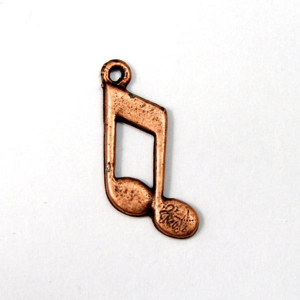 20mm Copper Music Note Charm