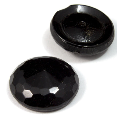 18mm Faceted Black Cab #1921-General Bead