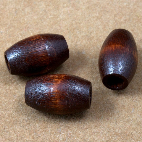 10mm x 15mm Smooth Brown Wood Oval-General Bead