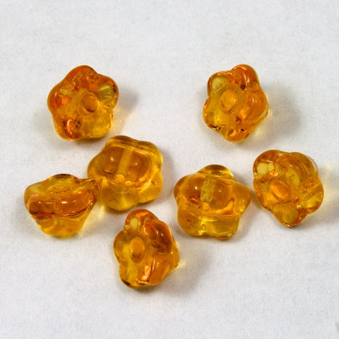 9mm Topaz Flower #1964-General Bead