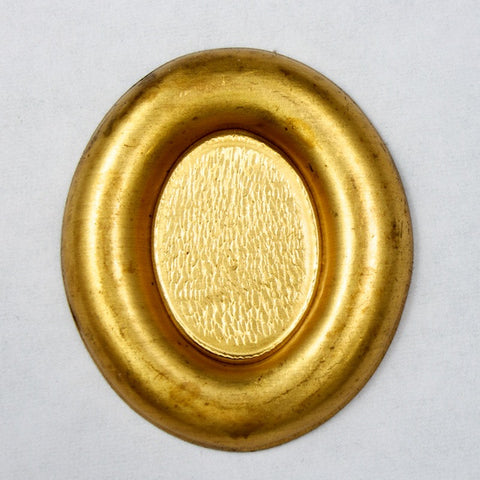 25mm Oval Raw Brass Cabset