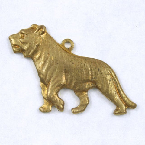 25mm Brass Walking Tiger #204-General Bead
