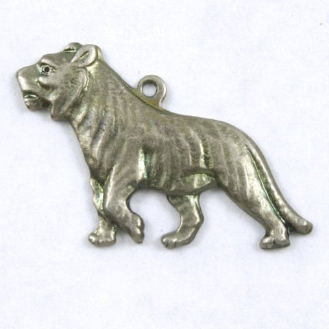25mm Antique Silver Walking Tiger #205-General Bead
