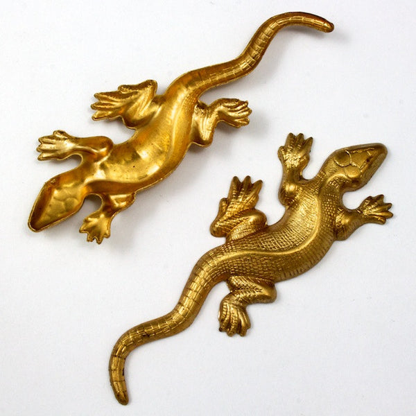 18mm x 40mm Brass Lizard #2069