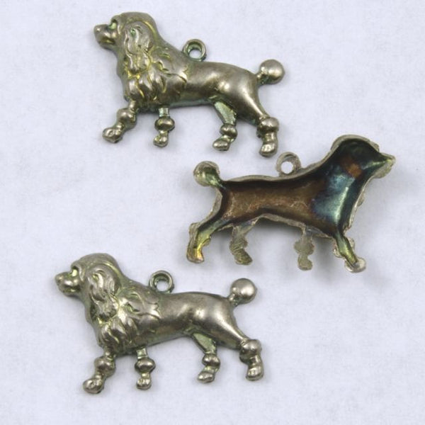 18mm Antique Silver Spaniel