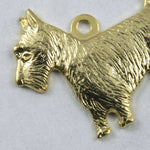 18mm Gold Scottie Charm #209-General Bead