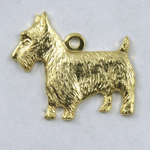 18mm Gold Scottie Charm