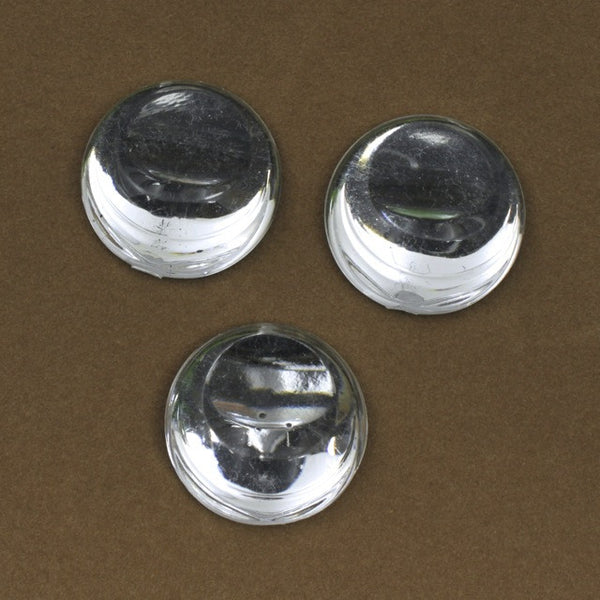25mm Crystal Tilted Crescent Round Cabochon