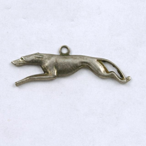 27mm Antique Silver Racing Greyhound (2 Pcs) #212-General Bead