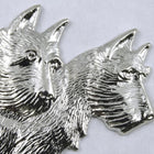 60mm Silver Double Scottie #214-General Bead