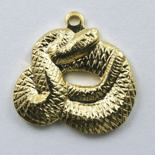 15mm Gold Coiled Snake
