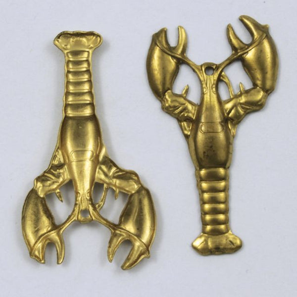 40mm Raw Brass Lobster