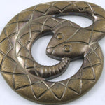 25mm Antique Brass Coiled Cobra #222-General Bead