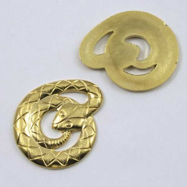 25mm Gold Coiled Cobra