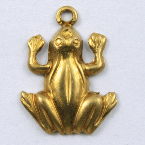 15mm Brass Frog Charm (2 Pcs) #226-General Bead