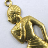 32mm Brass Kneeling Egyptian Figure (2 Pcs) #229