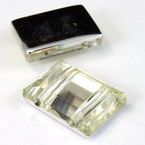 15mm x 20mm Clear Faceted Rectangle Cabochon-General Bead