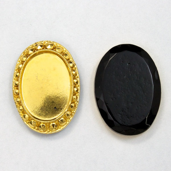 18mm x 25mm Gold Oval Cabochon Setting