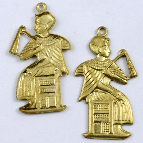 30mm Brass Seated Pharaoh