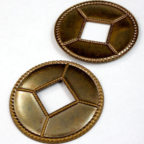 40mm Antique Brass Concho (2 Pcs) #2345