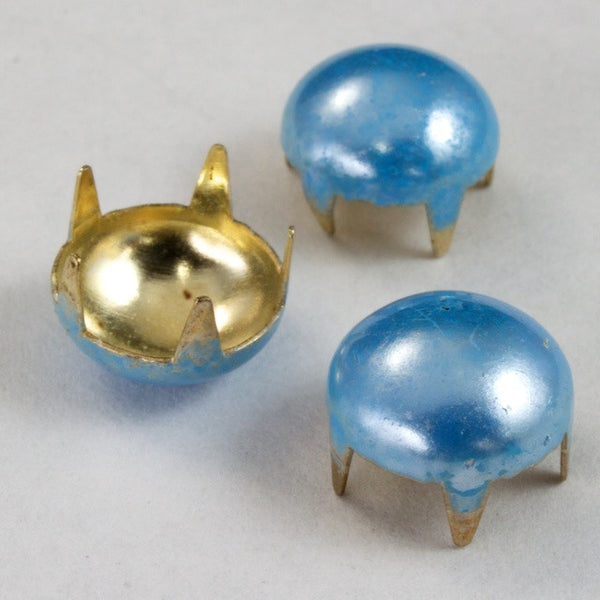 10mm Baby Blue Dome Stud