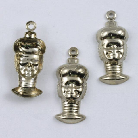 15mm Silver Head with Neck Rings (2 Pcs) #238-General Bead