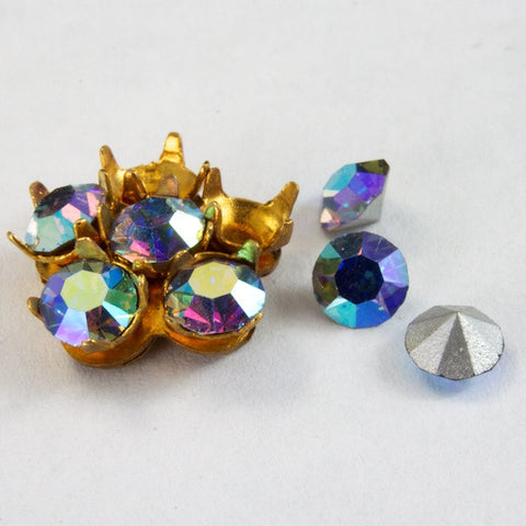 10mm 5 Petal Rhinestone Setting