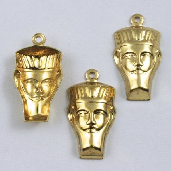 20mm Gold Pharaoh Head #240