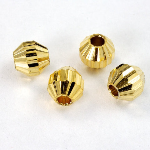 6mm Grooved Octagon Bead #2425