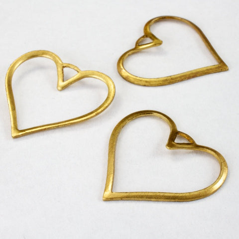 20mm Open Wire Heart Charm (2 Pcs) #2434-General Bead