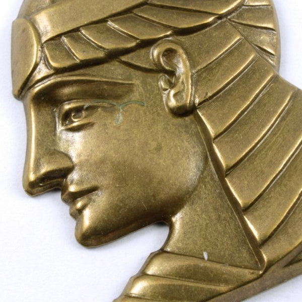 40mm Antique Brass Pharaoh Profile Charm