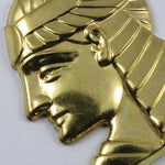 40mm Gold Pharaoh Profile Charm #245-General Bead