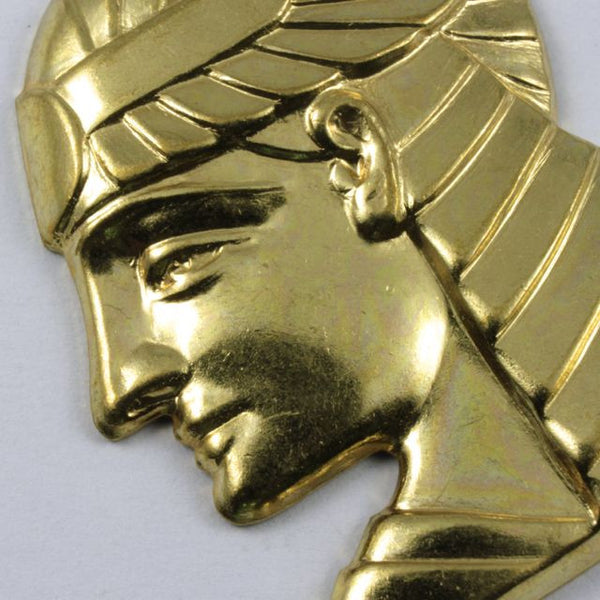 40mm Gold Pharaoh Profile Charm #245
