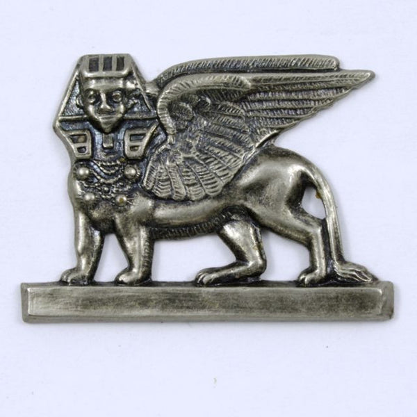 35mm Antique Silver Sphinx