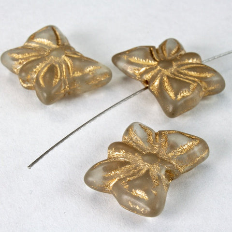 16mm Beige and Gold Butterfly-General Bead
