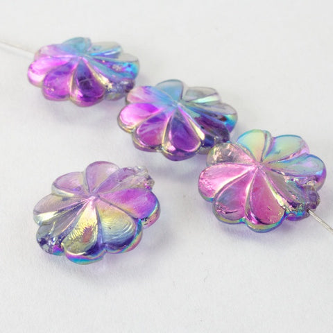 10mm Light Amethyst AB Pinwheel Flower (12 Pcs) #2508