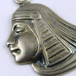52mm Antique Silver Egyptian Lotus Profile #250-General Bead