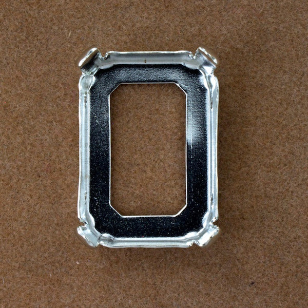 18mm x 25mm Rectangle Sew-On Cabochon Setting