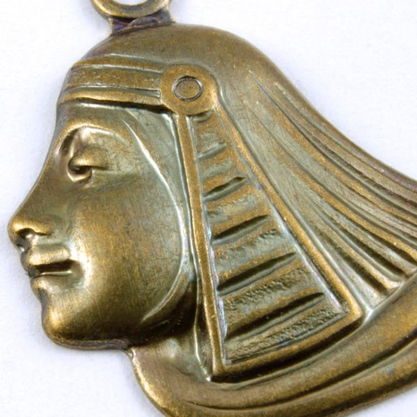 52mm Antique Brass Egyptian Lotus Profile
