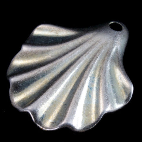 18mm Antique Silver Deco Scallop (4 Pcs) #2639