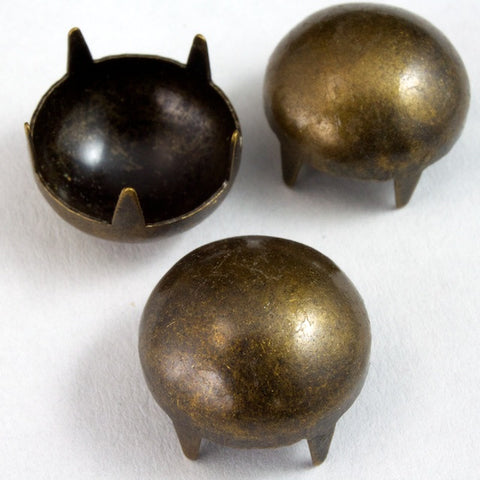 12mm Antique Brass Dome Stud