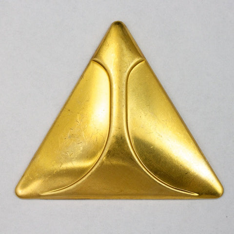 40mm Brass Deco Triangle (2 Pcs) #2676-General Bead
