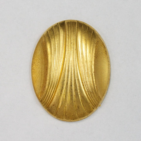 18mm x 22mm Brass Deco Oval (4 Pcs) #2677-General Bead