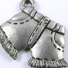 "3/4"" Antique Silver Cut Offs Charm #269-General Bead"