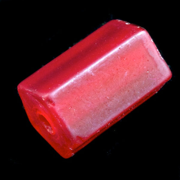 12mm Frosted Red Cylinder (4 Pcs) #2700