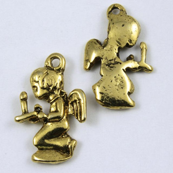 22mm Antique Gold Angel