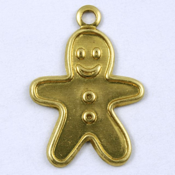 20mm Brass Gingerbread Man