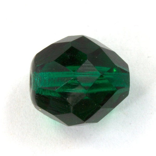 10mm Faceted Emerald Bead (10 Pcs) #2738