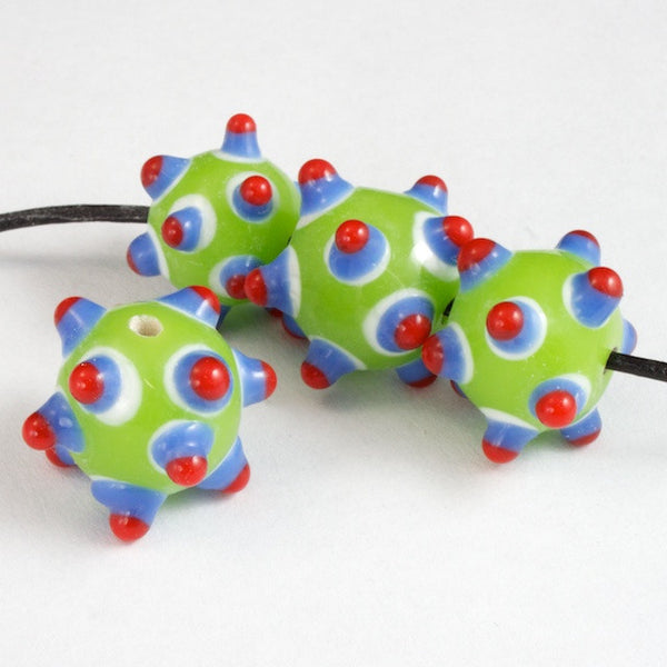 12mm Green/Blue/Red Sputnik (4 Pcs) #2757