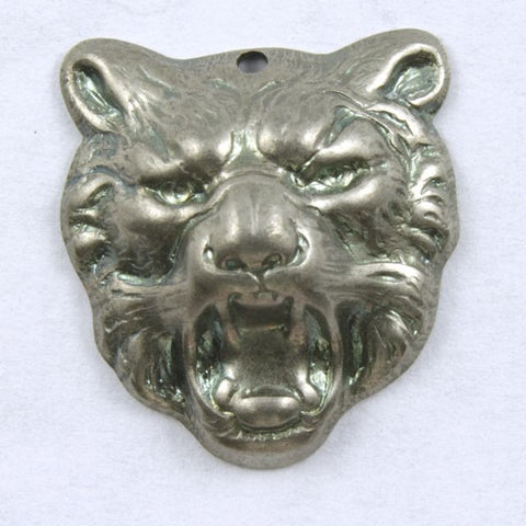 16mm Antique Silver Tiger